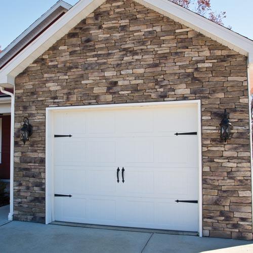 Garage door veneers sectional timber garage door for Wood veneer garage doors