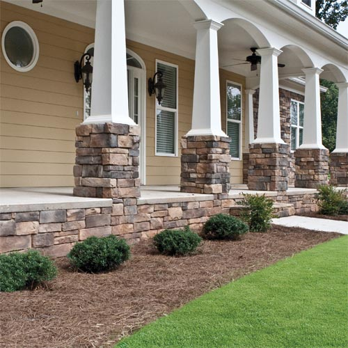 Dutch Quality Sienna Weather Ledge Faux Stone Siding Sample