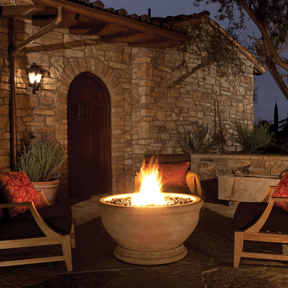 Eldorado stone marbella fire bowl for Eldorado stone fire bowl
